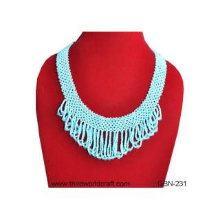 Glass Bead Necklace GBN-233