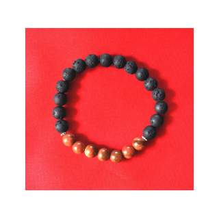 Lava Bead Bracelets with Onyx FBA-404
