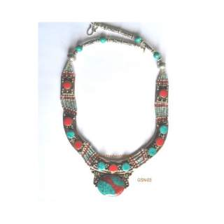 White Metal Necklace GSN-03
