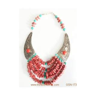 White Metal Necklace GSN-173