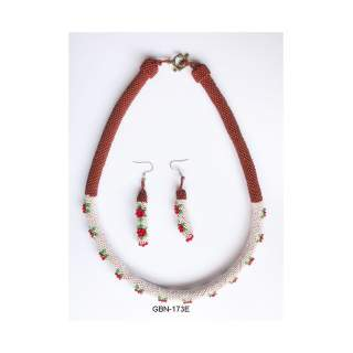 Bead Necklace Earring set GBN-173E
