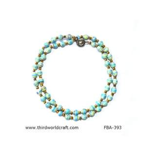 Recycle Paper Bead Necklace FBA-393