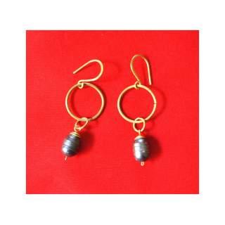 Brass Fashion Earring GSE-156