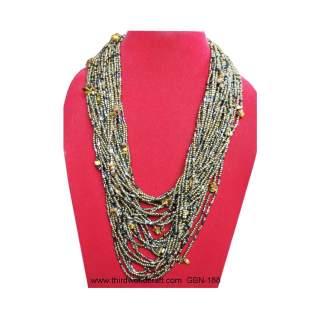 Bead Necklace w/earring GBN-188